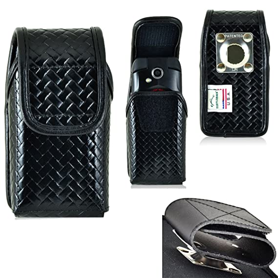 online retailer 785d3 a6771 Amazon.com: Law Enforcement Rugged Police Basketweave Genuine ...