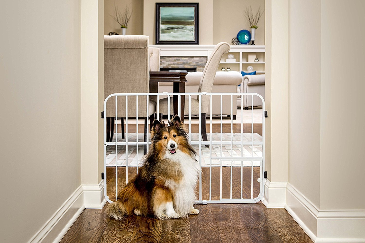 Carlson Pet Products. Metal Expandable Pet Gate, 26-42 inches wide, Pressure Mount