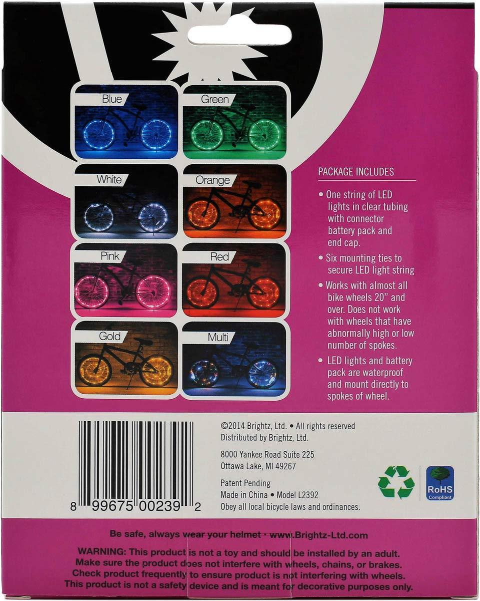 Brightz, Ltd. Wheel Brightz LED Bicycle Accessory Light (for 1 Wheel), Pink by Brightz, Ltd. (Image #5)