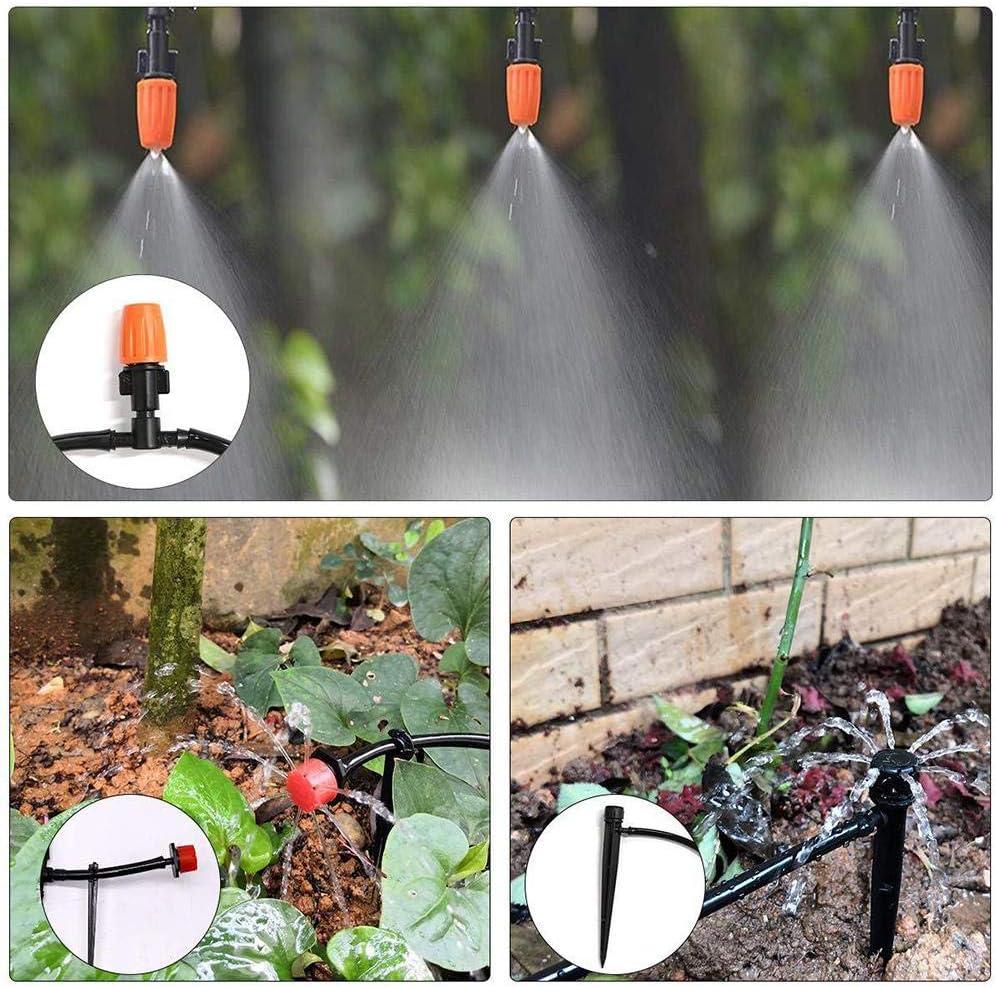 Irrigation Kit Garden Irrigation System Distribution Tubing Watering Drip Kit Automatic Mist Irrigation Equipment Set for Garden,Flower Bed,Lawn