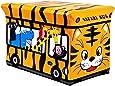 Storage Toy Padded Kids Box Bench Seat Safari Bus Childrens Play Chest