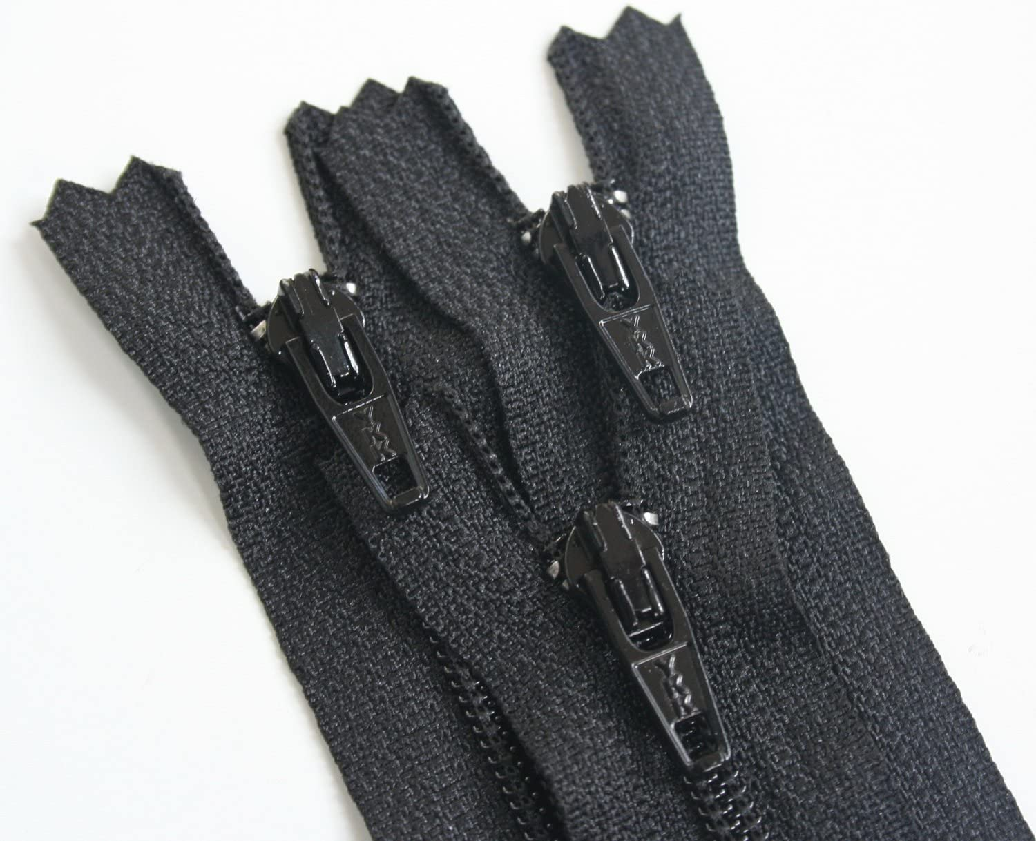 """100 22/"""" Invisible Zippers ~Closed Bottom~ Black ~ YKK"""