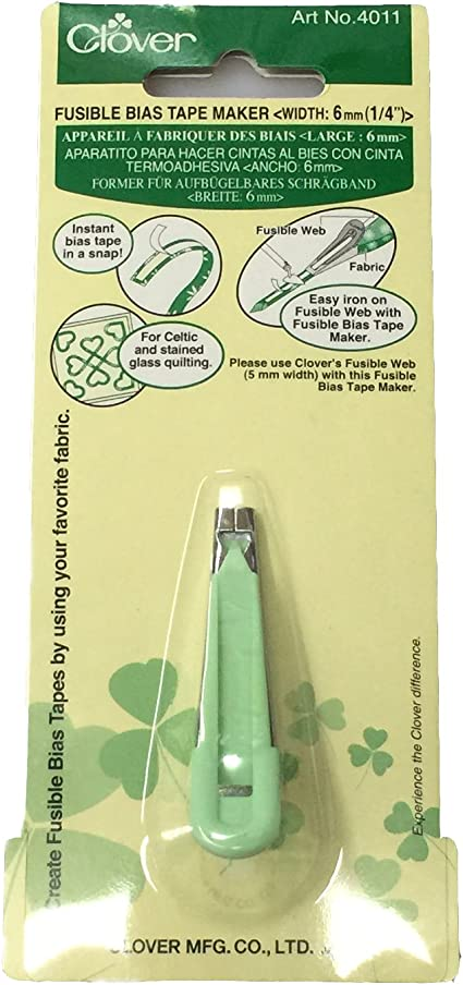 Clover Fusible Web Bias Tape Maker Sewing Notions SELECT YOUR SIZE!