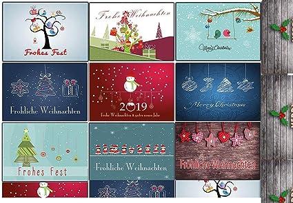 Weihnachtskarten Set Günstig.Weihnachtskarten Set Grußkarten Weihnachten Weihnachtspostkartenset Lustig Rustkal 30 Stück Weihnachts Postkarten Witzig Comic Collection Din A 6