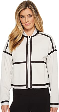 pretty nice c2453 6aae6 adidas Women s ZNE Singled Out Reversible Bomber Jacket Chalk Pearl X-Small