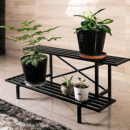 Elegant Supporti Per Piante Rack JUN Flower 2 Fila Fiore Rack In Acciaio Al  Carbonio Metallo