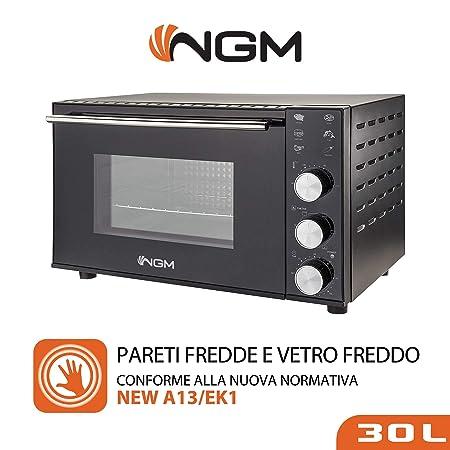 NGM A30 - Horno eléctrico ventilado con luz interior, 30 litros, 6 ...