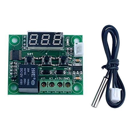 WINGONEER -50-110°C W1209 DC 12V Digital Mini Thermostat Temperature Controller Control