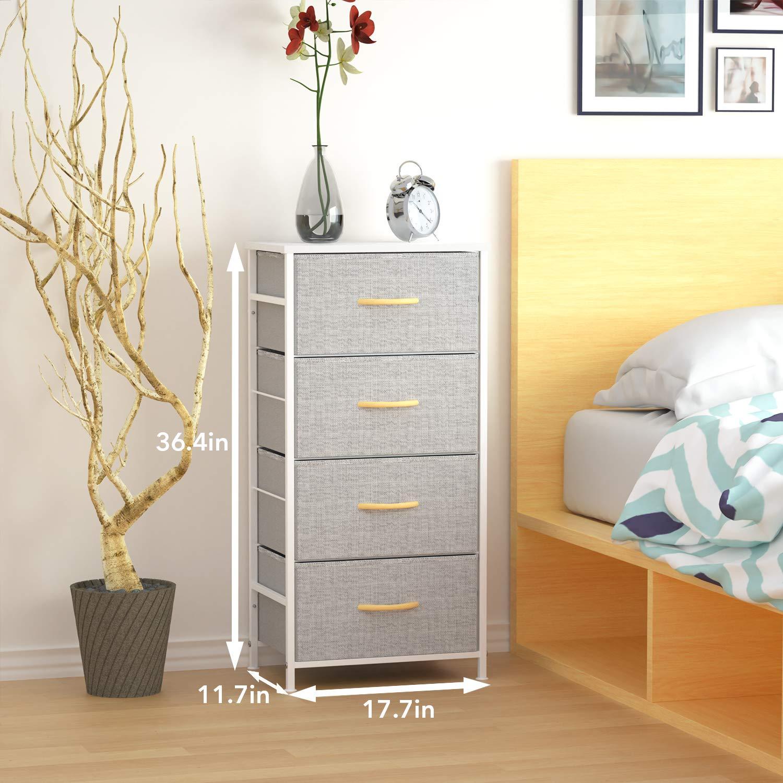Amazon.com: WeHome - Organizador de ropa con 4 cajones, tela ...