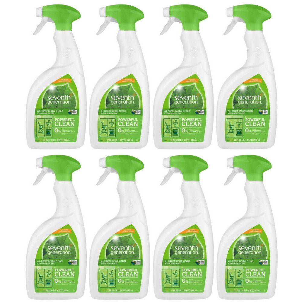 Seventh Generation Free & Clear All-Purpose Cleaner, 32 oz (Pack of 8)