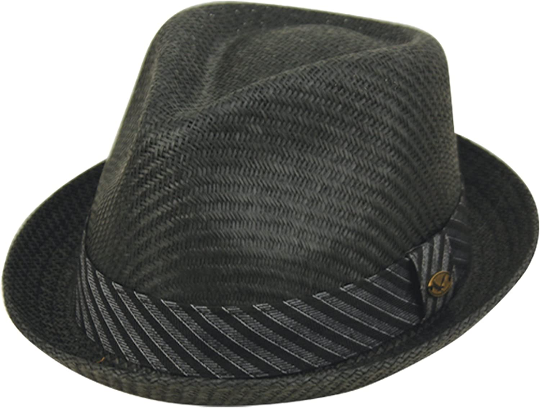 Epoch hats Mens Summer Fedora Cuban Style Short Brim Hat