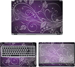 Decalrus - Protective Decal Floral Skin Sticker for Acer Aspire 5 Slim A515-43-R19L (15.6