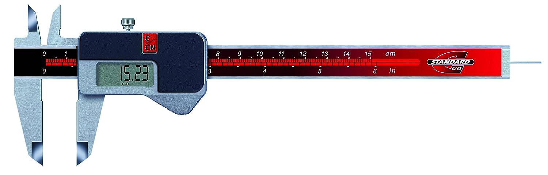 Standard Gage 00534003 Elektronische Messschieber mit Antriebsrad, 0 mm - 150 mm, Auflö sung 0.01 mm / 0.0005 Zoll TESA