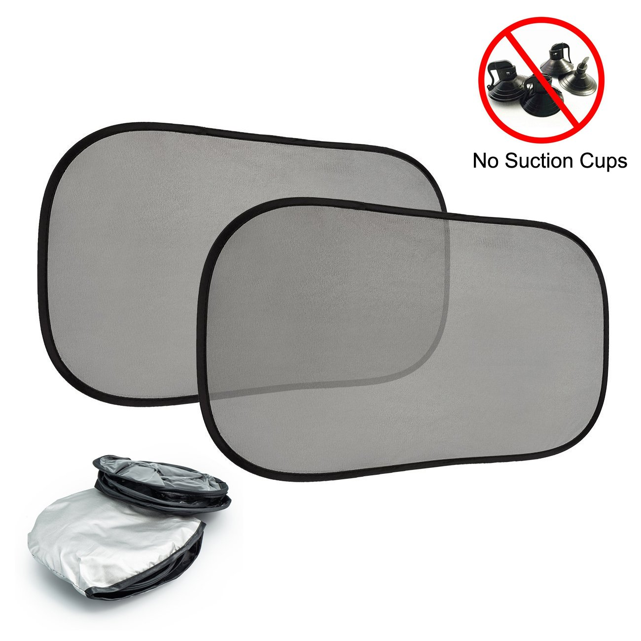 Car Sun shade for Side and Rear Window(2 Pack) – Auto Sunshades 20''X12''- No Suction Cups, Easy to Install, Protection Your Car Interior Trim and Passengers seat from sun glare and heat. Blocks over 98% of harmful UV Rays Winlights