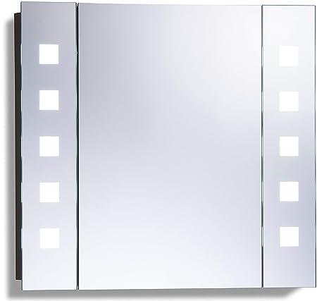 Led Beleuchteter Badezimmer Spiegelschrank Mit Licht Tageslichtweiss