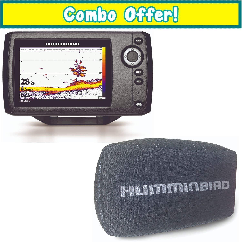Chirp, SI, GPS, G2 Humminbird 410230-1 Helix 5 Fish Finder
