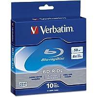 Verbatim BD-R DL 97335 50 GB 6x Blu-ray Double Layer Recordable Disc - Paquete de CD 6x, 50 GB, para Blu-ray, lectura y escritura, 10 unidades
