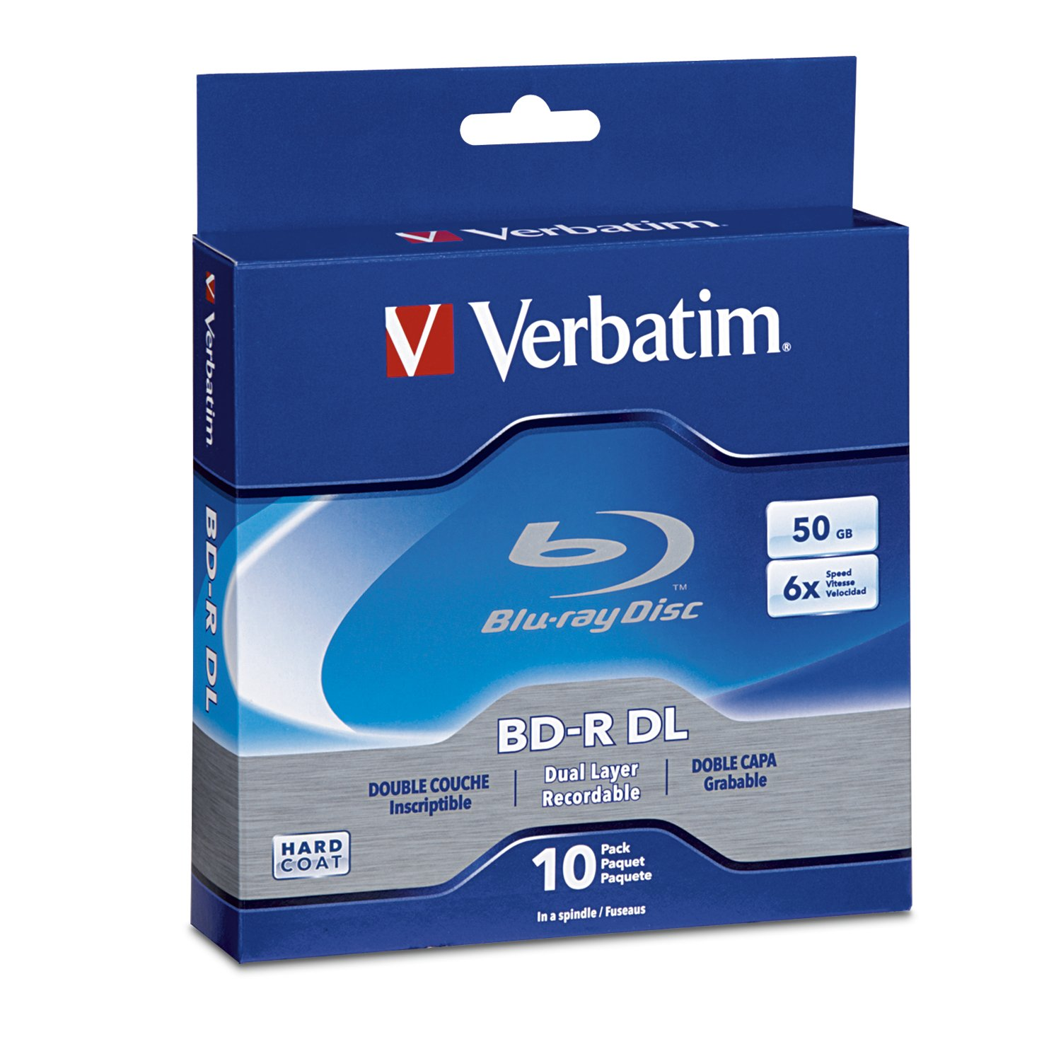 Verbatim BD-R 50GB 6X Blu-ray Recordable Media Disc - 10 Pack Spindle VERBATIM CORPORATION 97335 Blank Media & Cleaning Cartridges