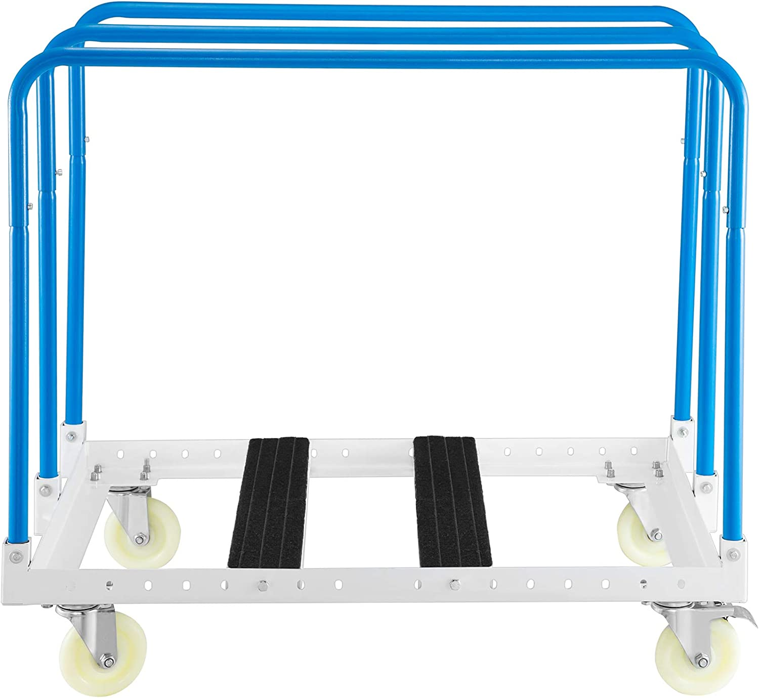 Moving Cart for Handling Drywall Sheet Cart 38 Inch Length x 24 Inch Width Steel Panel Truck with 3 Uprights in Blue VEVOR Panel Cart Dolly 1000lbs Capacity Panel Mover with 4 Swivel Casters