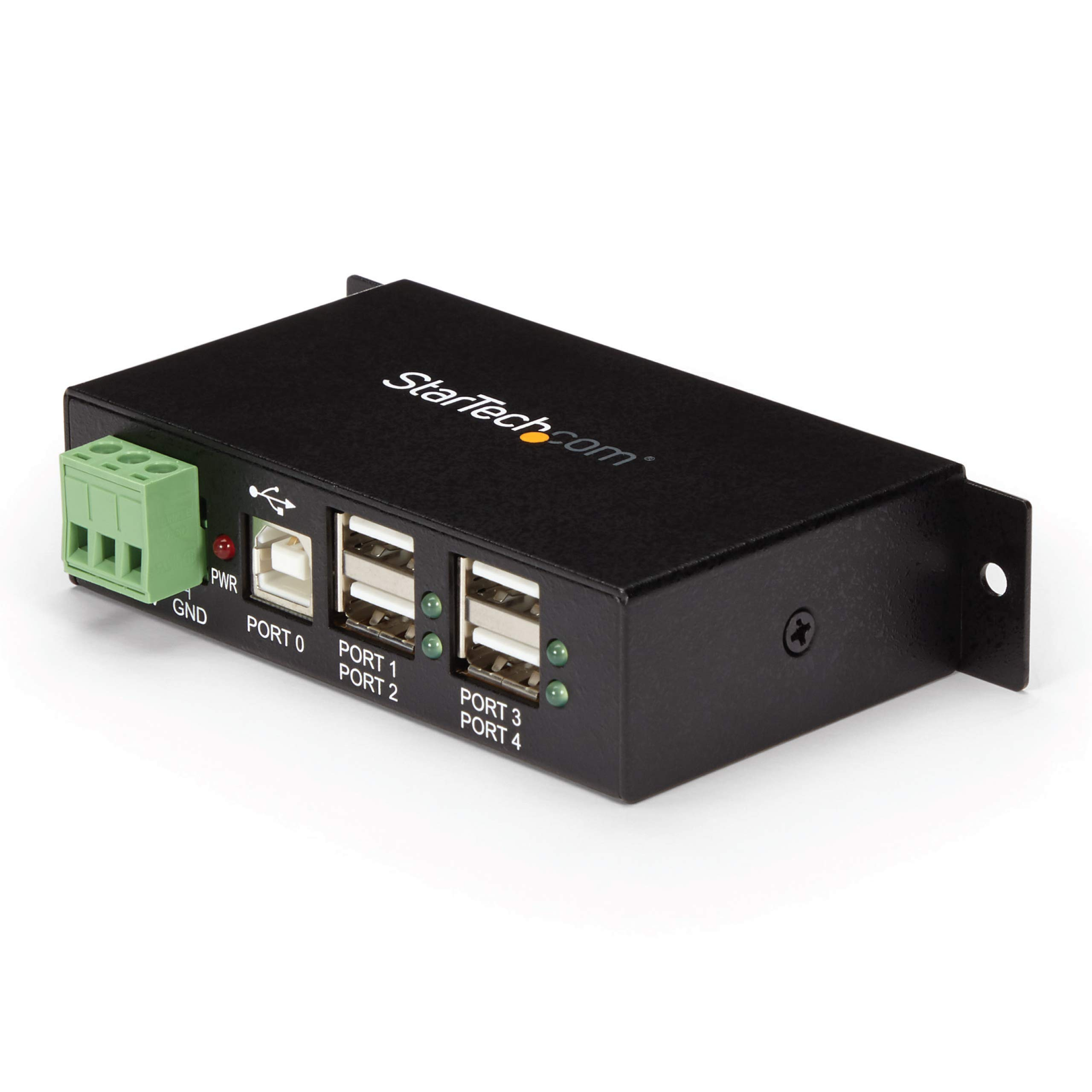 StarTech.com 4-Port Industrial USB 2.0 Hub with ESD Protection - Mountable - Multiport Hub (ST4200USBM)