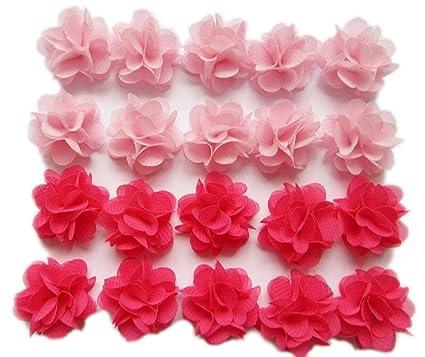 Amazon.com  YYCRAFT Pack of 30 Cute Mini Chiffon Flower 1