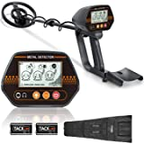 """Metal Detector, Adjustable Metal Finder (24""""-45"""")for Adults and Kids with Larger Back-lit LCD Display, 3 Audio Tone…"""