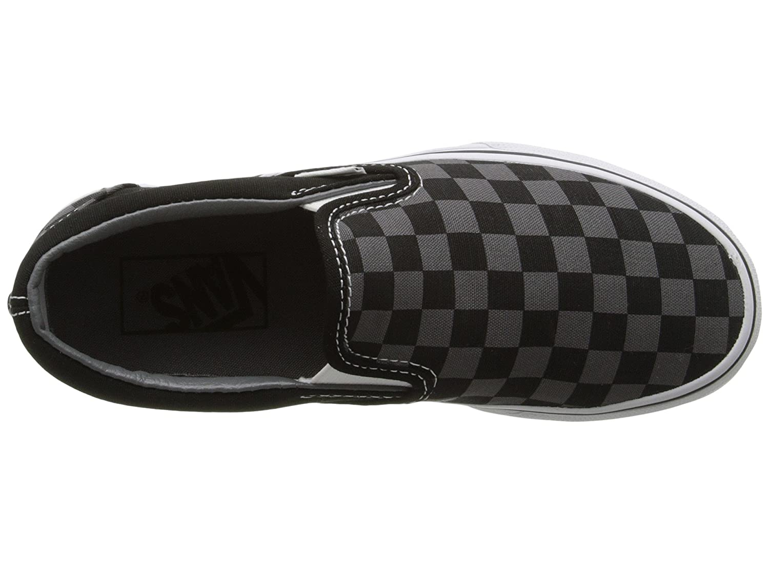 Vans Men's Classic Slip On (Suede & Suiting) Skateboarding Shoes B01M2TZUY2 7.5 M US Women / 6 M US Men|Black/Pewter Checkerboard
