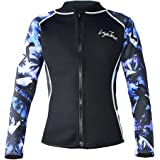 LayaTone Men Women Wetsuits Jacket 3mm Neoprene Tops Adults Surfing Scuba Diving Suit Top Wetsuit Jacket Women Men Rash Guard