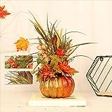 10 PC Fall Decor for Home Tables Centerpieces Pumpkin Artificial Pumpkins Ornament Plastic Maple Leaf Pinecone Berry Set Deco