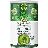 Organic Veda Moringa Powder 1 LB (16 oz) USDA Organic Certified | 100% Pure Raw Organic Moringa Leaf, Grown from India Origin