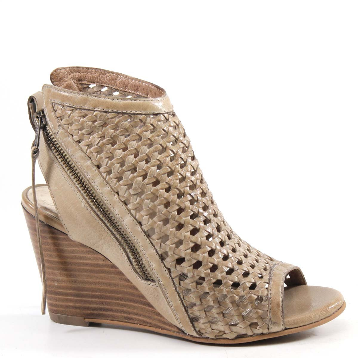 Diba True in Between Woven Leather Wedge B07C98VNXV 9 B(M) US|Beige Woven Leather