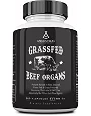 Ancestral Supplements Grass Fed Beef Organs (Desiccated) - Liver, Heart, Kidney, Pancreas, Spleen (180 capsules)
