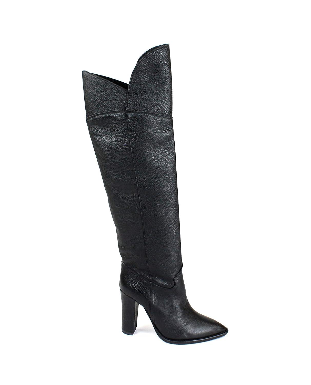Divine Follie STC102 schwarz Stiefel Frau Ferse röhrenförmigen Leder Zehe