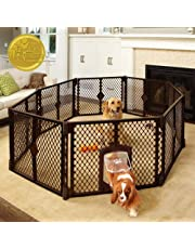 """North States MyPet Indoor/Outdoor Petyard: Pet enclosure with lockable pet door. Freestanding (26"""" tall)"""