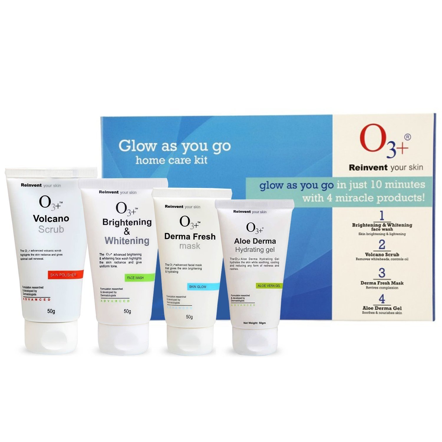 O3+ Glow As You Go Kit for Normal to Oily Skin (4 x 50g) product image
