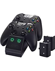 Venom Xbox One Twin Docking Station with 2 x Rechargeable Battery Packs: Black (Xbox One)