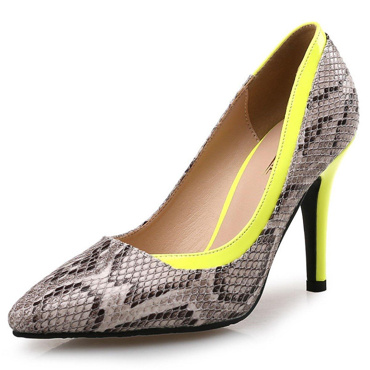 DIMAOL Damenschuhe Synthetische Microfaser PU Feder Fallen Komfort Heels Stiletto Heel Schuhe geteilten Gemeinsamen für Party & Abendkleid Fuchsia