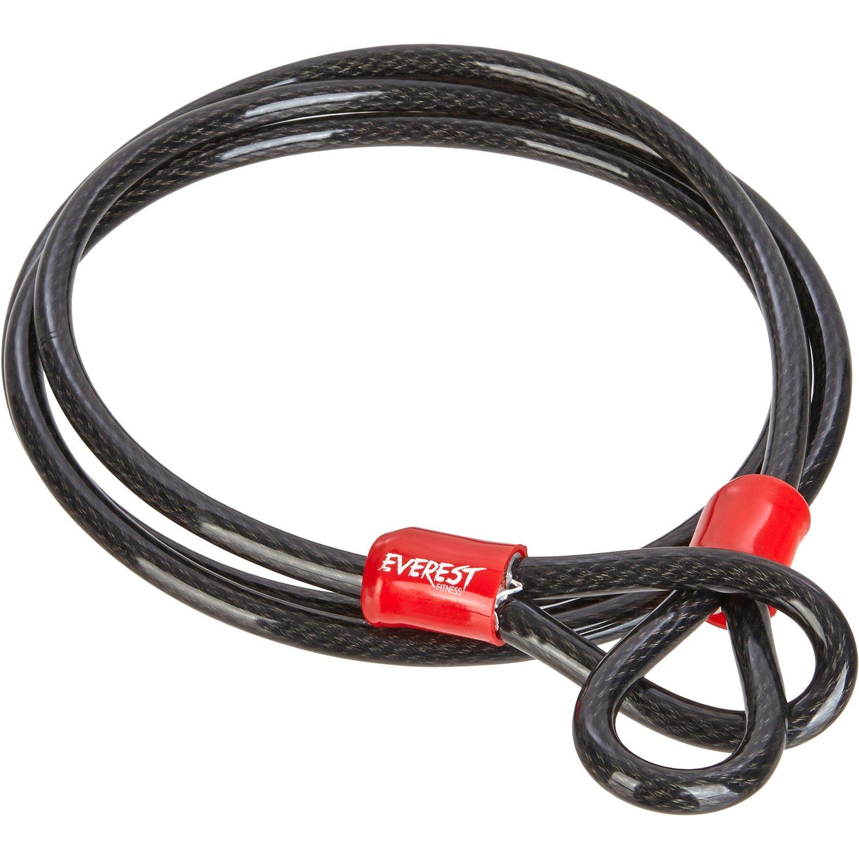 EVEREST FITNESS Câble Boucle antivol, Longueur 200 cm, Robuste et résistant | avec 2 Ans de Garantie Satisfaction | Cable antivol, antivol Velo, câble de sécurité product image