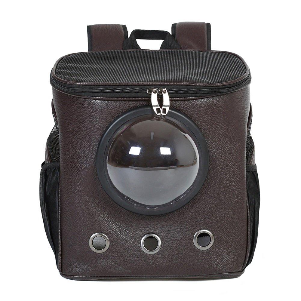 migliore offerta YIXIN Gatti e e e cani Zaino borsa PU Materiale Borsa da viaggio per animali da compagnia Quattro stagioni sono disponibili Nero 34  26  38cm  ti renderà soddisfatto