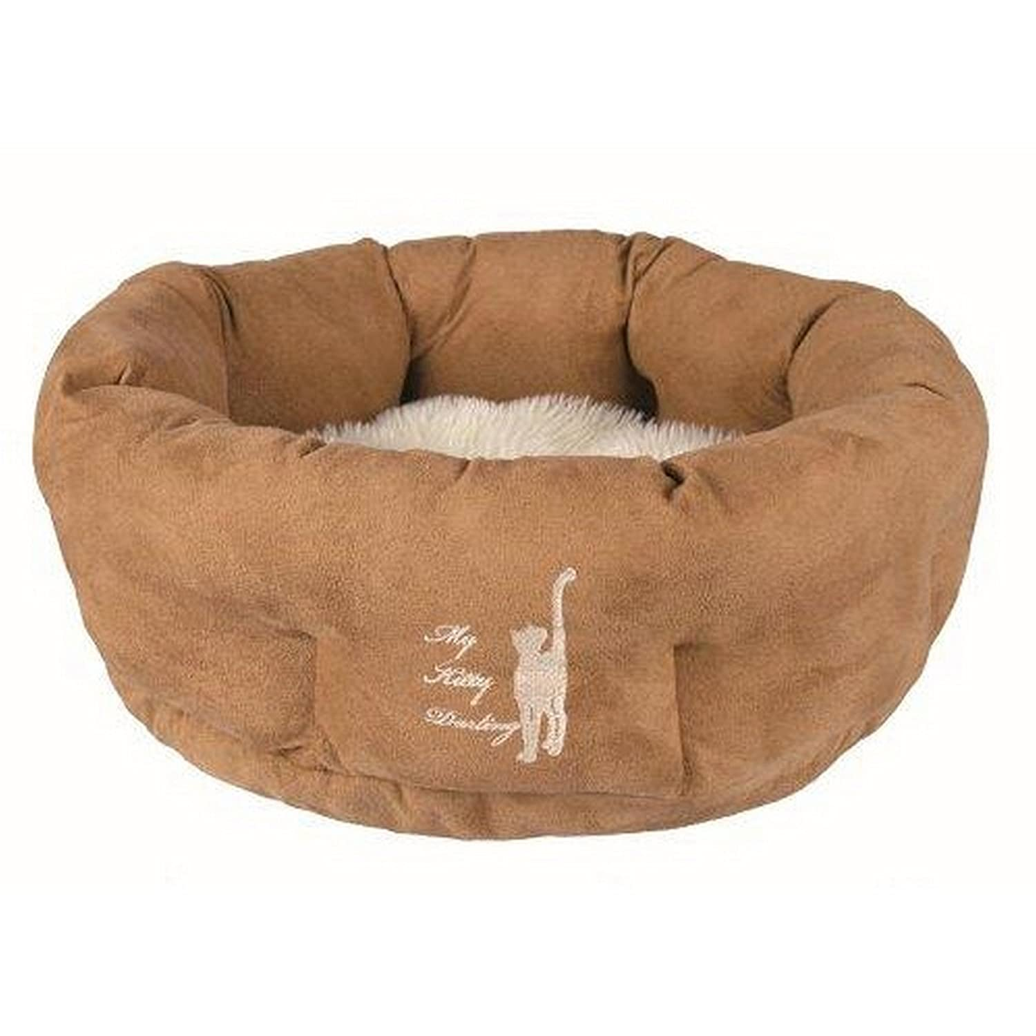Trixie My Kitty Darling Cat Bed (19.5 in) (Light Brown Cream)
