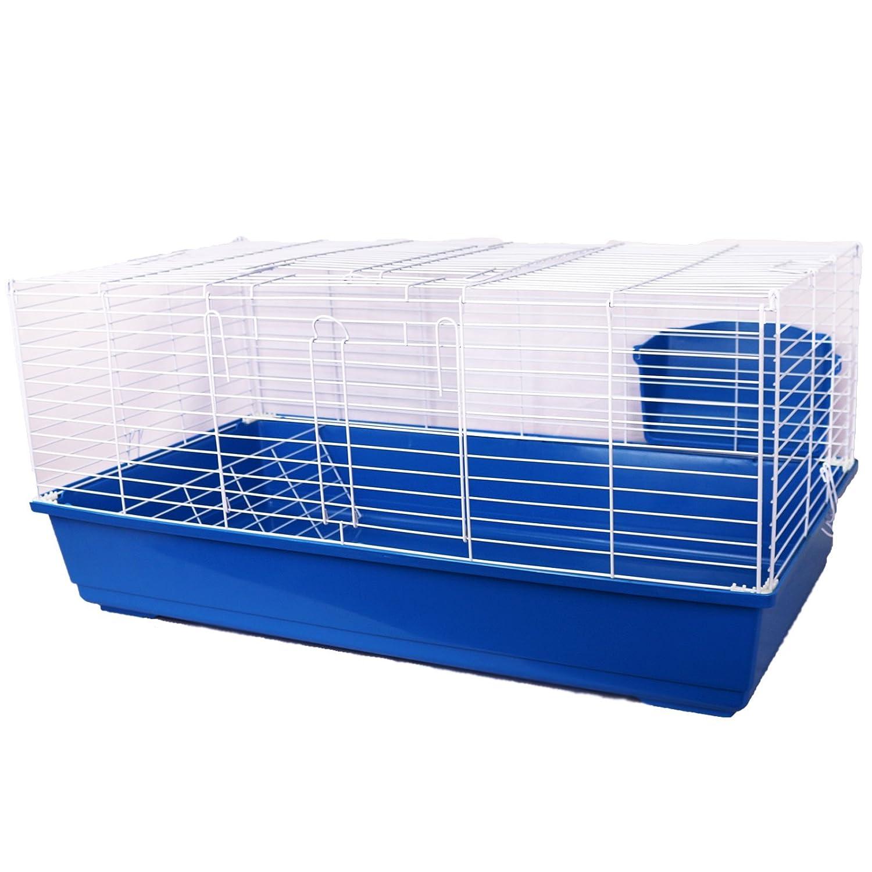 stile classico Pet Ting, Gabbia per Conigli Conigli Conigli 100 cm, conigliera per porcellini d'India, S, Trifoglio Blu  centro commerciale online integrato professionale