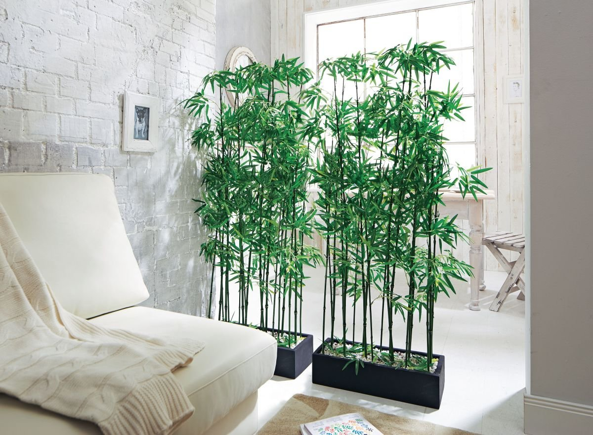 PuROTay Raumteiler Kunstpflanze Kunstpflanze Kunstpflanze Bambus, Höhe ca. 140 cm 3827aa