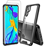 LeYi Huawei P30 Pro Case with Screen Protector, Ultra Defender Hard PC Shockproof Full-Body Rugged Protective Phone Case for