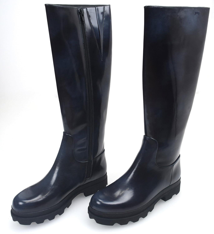 CAMPER Damen Stiefel Stiefeletten Stiefel SCHWARZ BLAU UNSCHARF Gummi Art. 46813 41 schwarz Blau SFUMATO