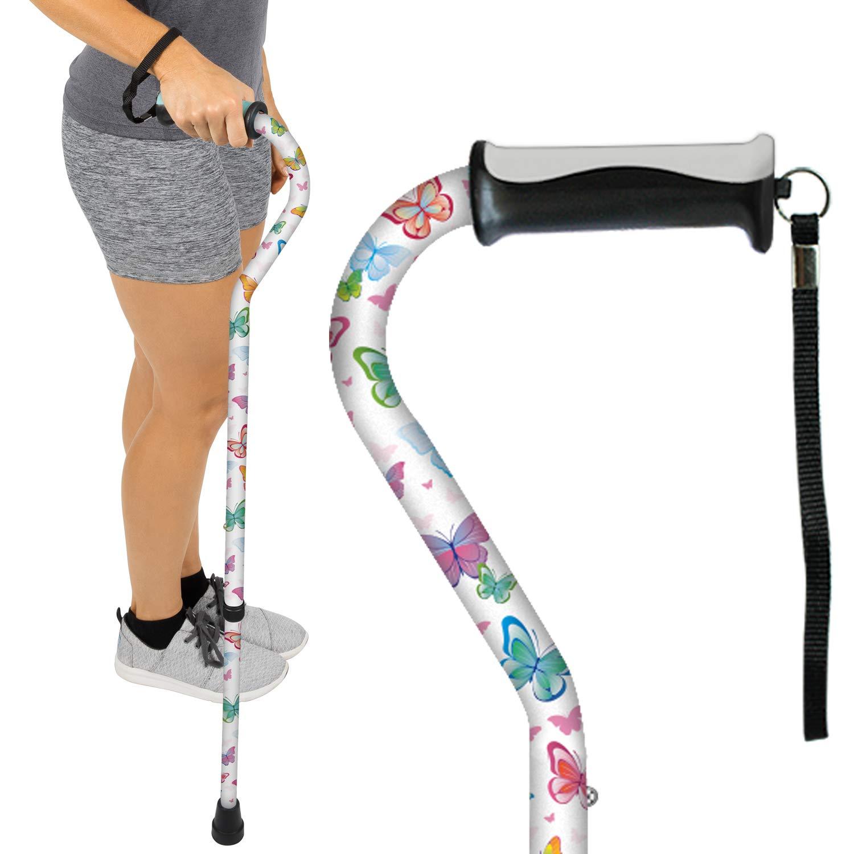 Amazon Com Vive Walking Cane For Men Amp Women Portable Adjustable Offset Balance