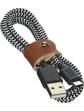 Native Union Belt Cable for Android Devices - 4ft Micro-USB to Usb Charging Cable with Strap for Android Devices Zebra
