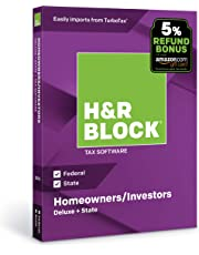 H&R Block Tax Software Deluxe + State 2018 with 5% Refund Bonus Offer [Amazon Exclusive] [PC/Mac Disc]