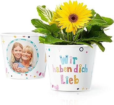 10x15cm ø16cm Facepot Papa Rockt Blumentopf Geschenke Für