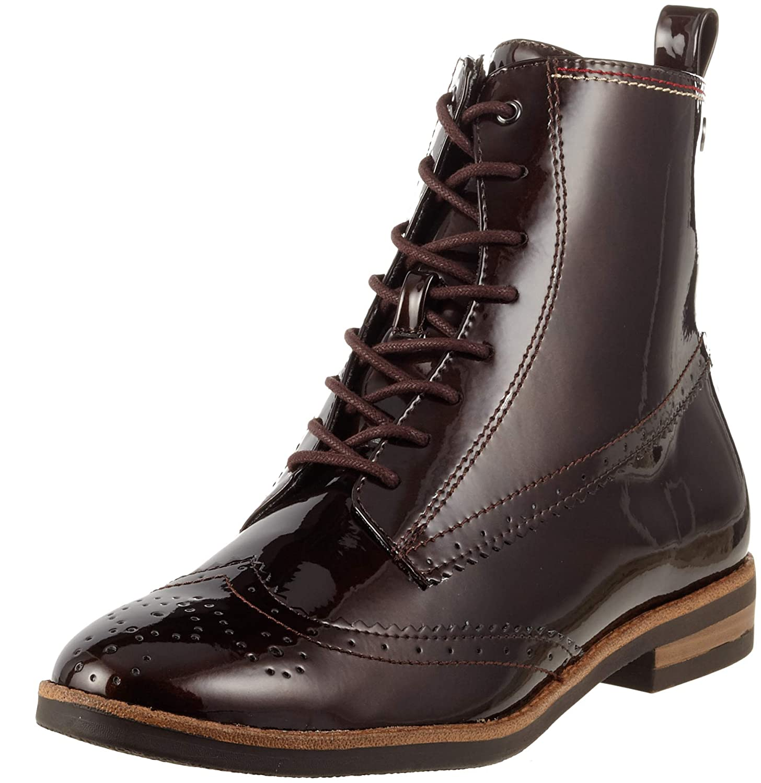 Braun (Maroon Pat. 387) Tamaris Damen 25119-21 Combat Stiefel