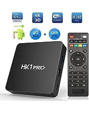 Android 8.1 TV Box, SeeKool HK1 Pro Smart TV Box S905X2 Quad Core 64 bit, 4GB RAM+32GB ROM, BT 4.1, 4K*2K UHD@60fps H.265, Android Set-Top Box Soporte 2.4G / 5.0G Dual WiFi / 3D/ USB3.0